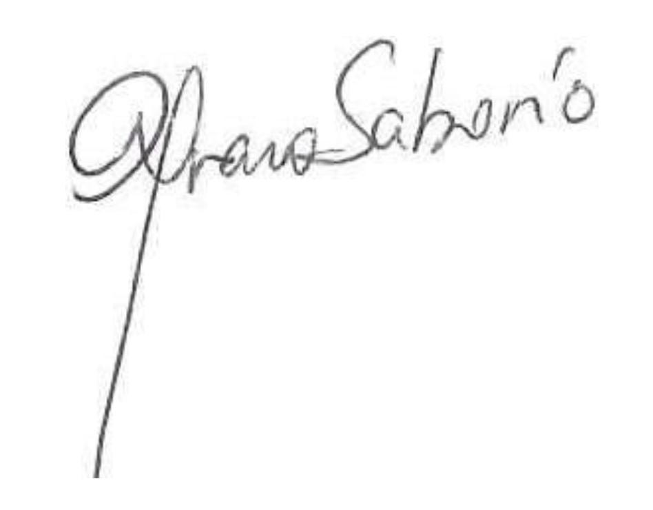 Firma del presidente Alvaro Saborío